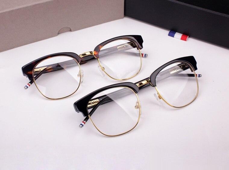TB 016B male Ms semi circular frame myopia Eyeglasses frame retro fashion Glasses oculos lente transparente