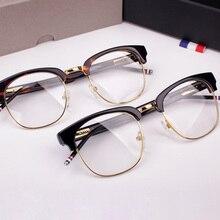 TB-016B, мужские, Ms., полукруглая оправа, близорукость, очки, оправа, Ретро стиль, очки, oculos lente, прозрачные, компьютерные очки