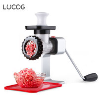 LUCOG Meat Grinder Mincing Machine for Home Manual Vegetable Mincer Meat Slicer Fish Grinder Kitchen Sausage Machine