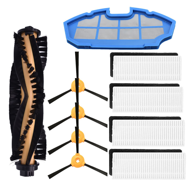 Main Brush Hepa Filter Side Brush Replacement Kit For Ecovacs Deebot N79 N79S Robotic Vacuum Cleaner Spare Parts Accessory