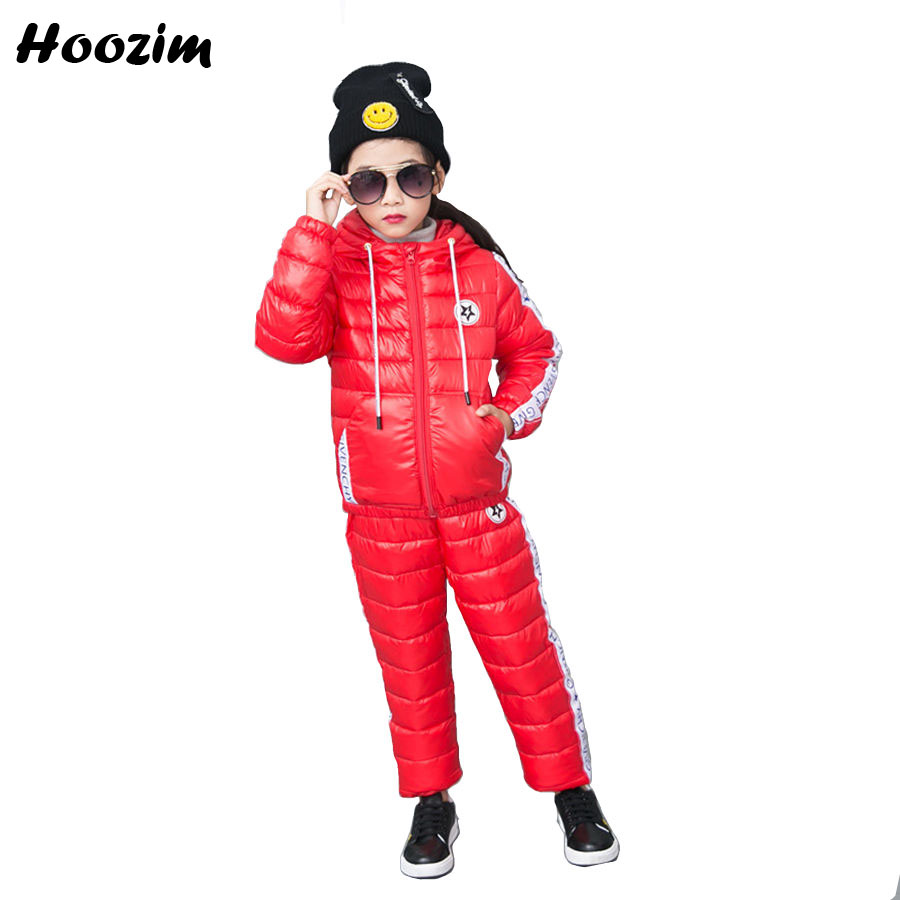 Winter Sport Suit For Girls 6 7 8 9 Years Fashion Jacket+Pants Children Autumn Boys Clothing Set 2018 Cool Kids Tracksuit Black 2018 autumn children clothing set for boys cotton kids tops and pants 2pcs set tracksuit 2 3 4 5 6 9 years fashion kids clothes