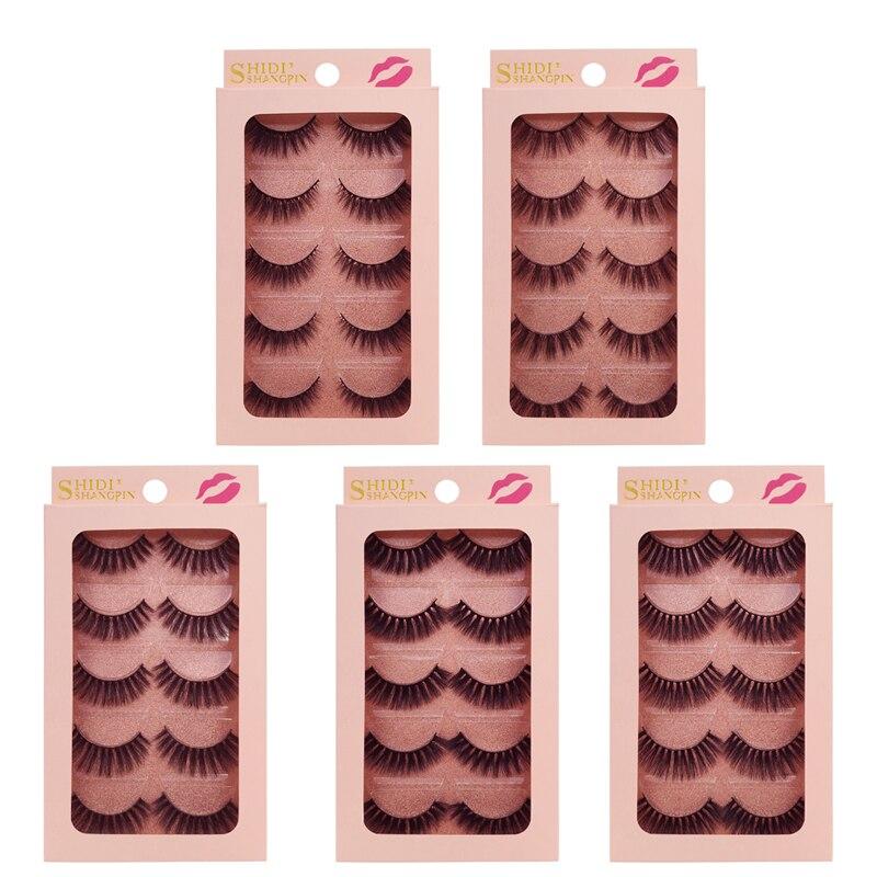 5 Pairs 3d Mink Eyelashes False Eyelashes Natrual Makeup Full Strip Lashes Fluffy False 3d Mink Lashes For Cilios Mink Maquiagem