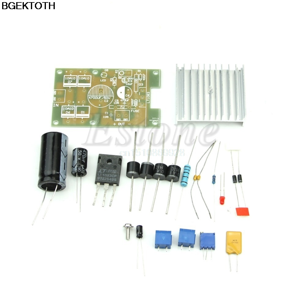 Buy Adjustable Power Supply Lt1083 And Get Free Shipping On 12 30v 5a Using Lm338