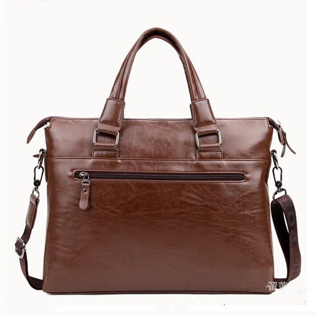 2017 Men Leather Bags Business Bag Brands Quality Briefcase laptop bag Men's Leather Handbag Shoulder Vintage Fashion Messenger