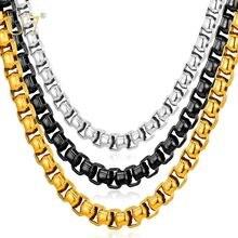 U7 Звено Венецианское Цепи Ожерелье Для Мужчин Оптом 7 ММ Цепочка