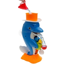 Cute Dolphin Bath Shower Wheel Toy Baby Kids Water Spraying Tool Bathroom Gift HC6U Drop shipping