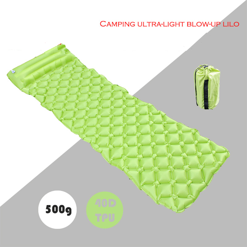 Image 4 - VILEAD Ultralight Inflatable Camping Mat 185X55cm Automatic Cushion Sleeping Pad Outdoor Air Bed Self drive Travel With Pillow-in Camping Mat from Sports & Entertainment