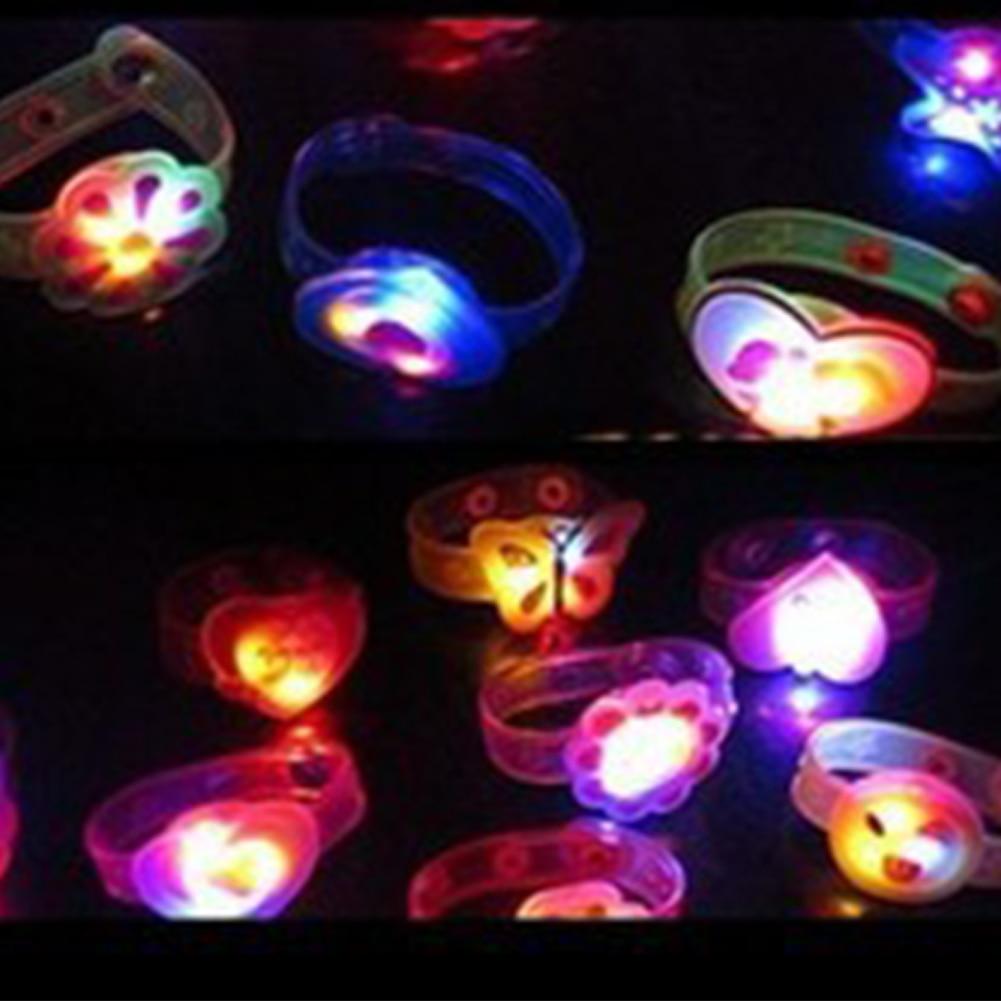 Light Toys Kids Flashing Light LED Wristband Toy Adjustable Glowing Luminous Bracelet Party Fun Toy Gift Random Color 1