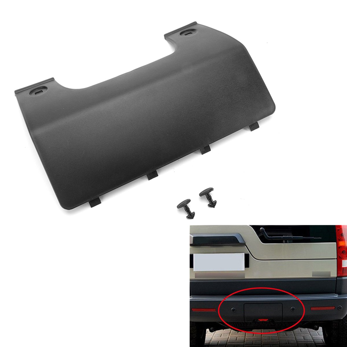 New Rear Bumper Tow Eye Cover Panel For Land Rover Discovery 3/4 DPO500011PCL our discovery island 4 dvd