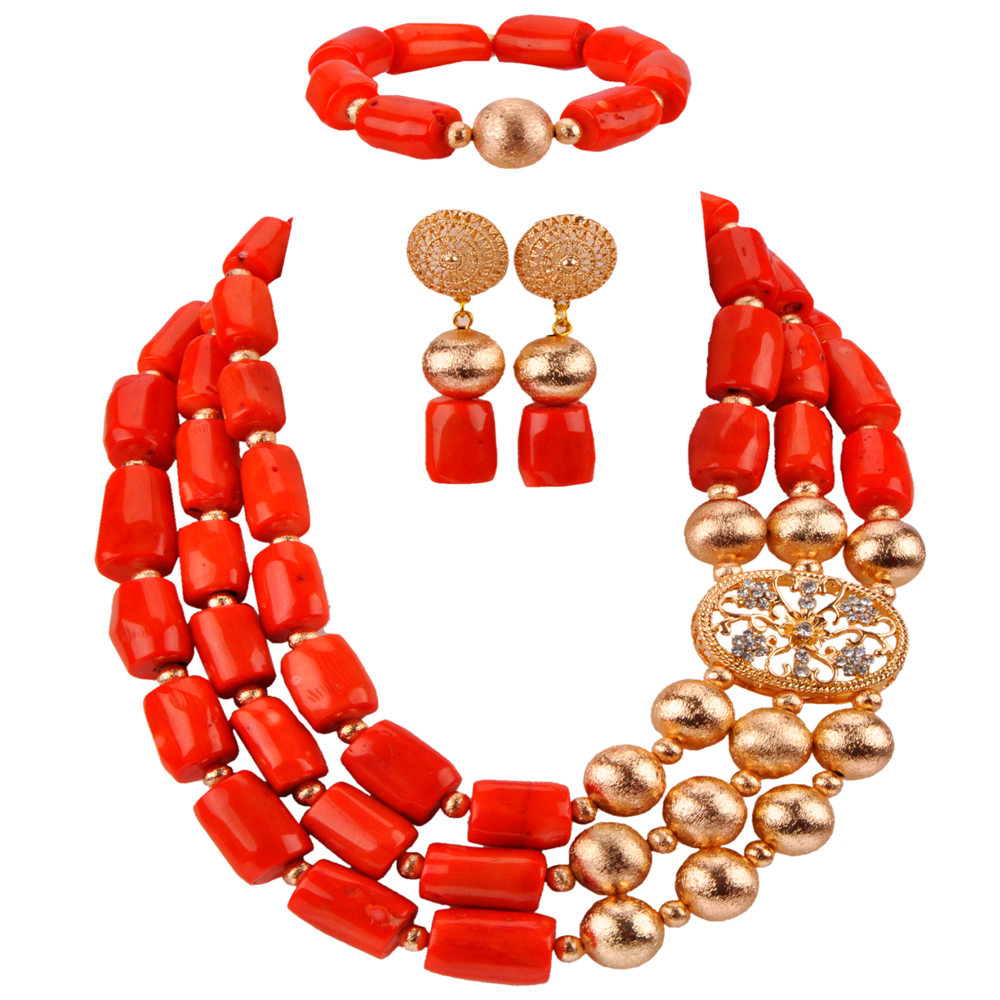 Fashion Jewelry Set African Wedding Coral Beads Jewelry Necklace Sets Nigerian Bridal Jewelry Sets CBS34Fashion Jewelry Set African Wedding Coral Beads Jewelry Necklace Sets Nigerian Bridal Jewelry Sets CBS34