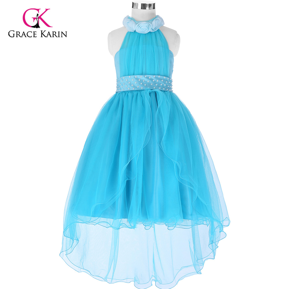 ₩High Low Flower Girl Dress 2018 New Arrival Holy First Communion ...