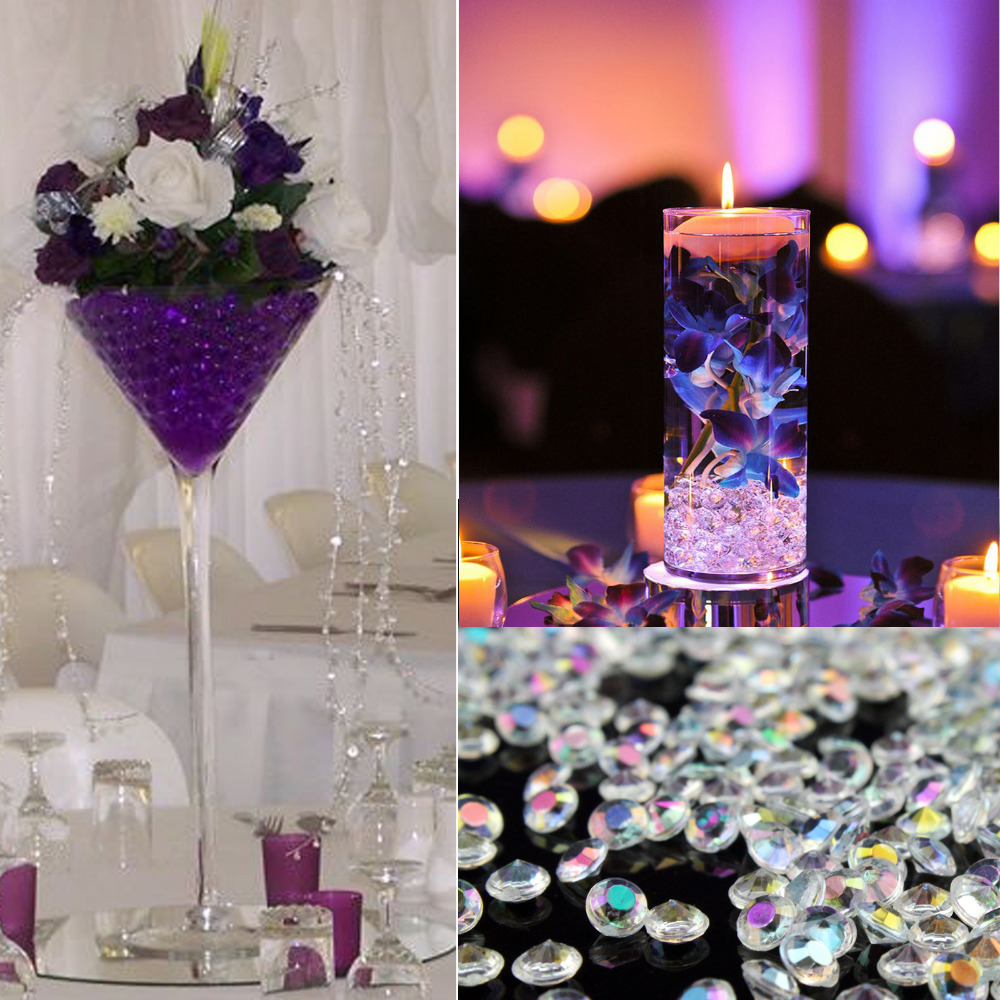2 000pcs Pack 10mm 1cm 20 Colors Acrylic Diamond Ters Table Confetti Beads Wedding Decoration Party Event Supplies In Artificial Dried Flowers From