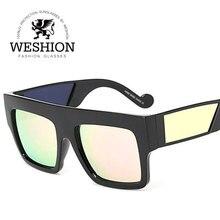 Hombre Mujer Gafas de Sol Mujer Gafas de Sol de Mujer de Marca 2017 calle Neff Abordarlo Oculos Recubrimiento Gafas de Espejo Lente de Gradiente