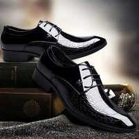 Fashion Business Men Dress Shoes 2019 New Classic Leather Men's Suits Shoes Pointed leisure Slip On Dress Shoes Men Oxfords
