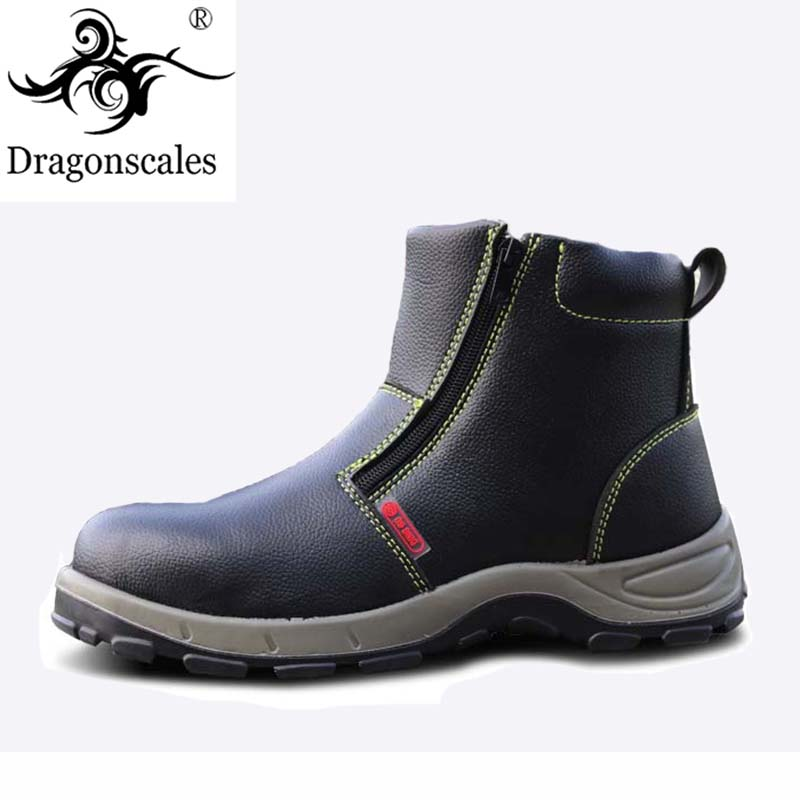 2019 New Safety Breathable Outdoor Shoes Men's Leather Sports Shoes Summer Waterproof Puncture Work Shoes