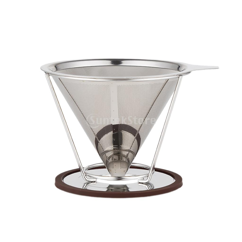 Reusable Single Cup Filter Coffee Stainless Drip Mesh Percolator 1 125mm