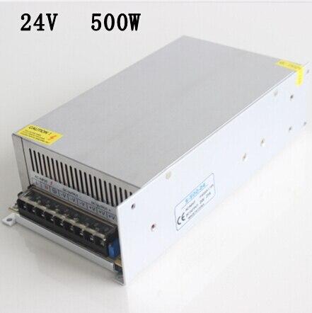 Commutateur de courant LED 24 V 500 W transformateur d'éclairage 110V-240VAC 24VDC affichage puissance CE et ROHS approuvé