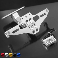 Adjustable Motorcycle Pit Sport Bike License Plate Bracket For xmax msx125 ducati 696 support de plaque motocycle universel