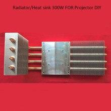 1 peça HD 1080 p 1080*1920 LED projetor/projeção diy kit tubular de cobre radiador/dissipador de calor 300 W para cinema em casa diy