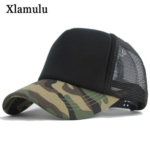 Xlamulu Camouflage Mesh Baseball Caps For Men Snapback Sun Hat 5 panels Women  Casquette Bone Gorras Male Hip-Hop Baseball Hats e3276a63294e