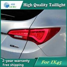 Хвост лампа для Hyundai Santafe Santa Fe 2013 2014 задние фонари светодиодные Фонарь задний светодиодные лампы ДРЛ + тормоз + Парк + стоп-сигнала лампы
