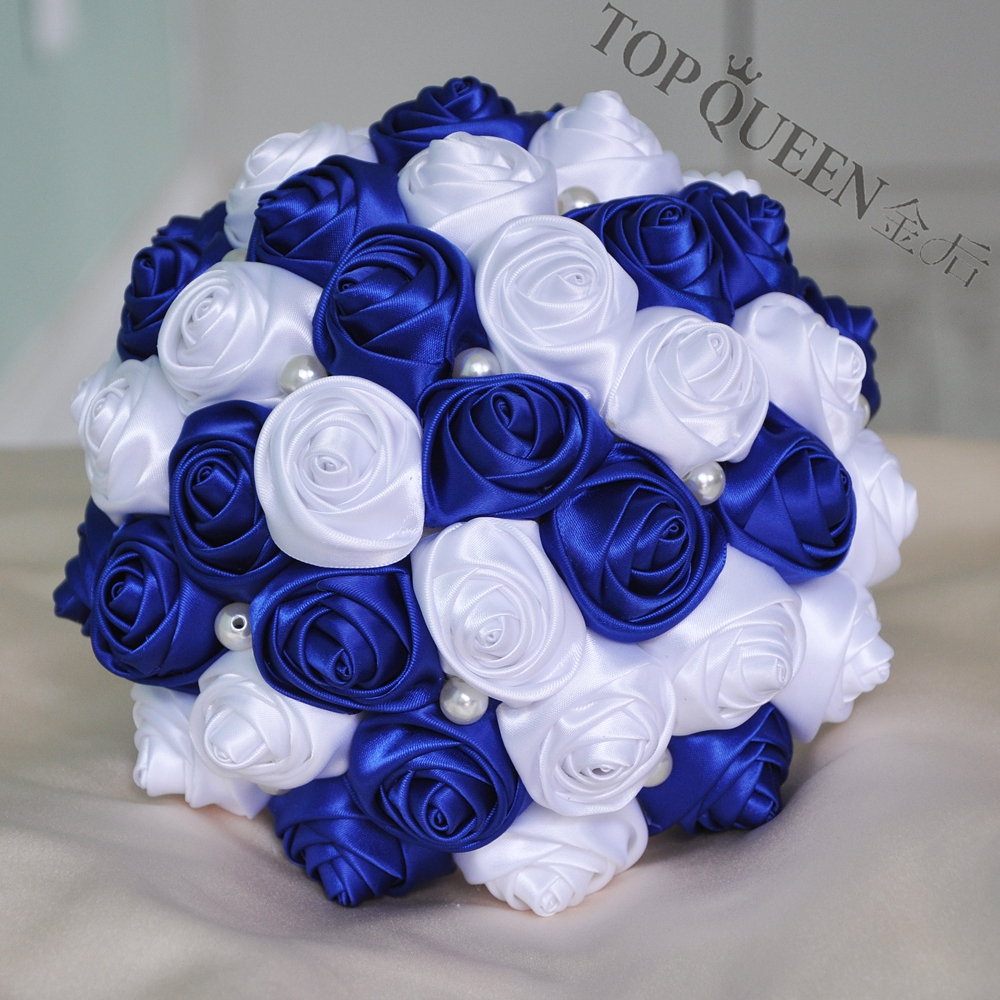 Topqueen f4 rbl in stock stunning wedding flowers bridesmaid bridal topqueen f4 rbl in stock stunning wedding flowers bridesmaid bridal bouquets artificial royal blue rose wedding bouquet in wedding bouquets from weddings izmirmasajfo