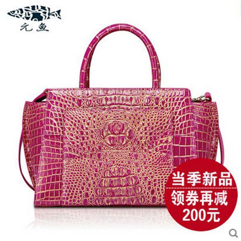 YuanYu 2018 new crocodile female handbag leather bag women wings bag ladies handbags yuanyu new crocodile wallet alligatorreal leather women bag real crocodile leather women purse women clutches