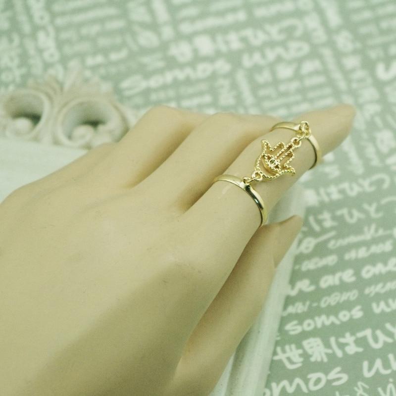 2015 Gold silver Color Midi Ring Set Fatima Eyes Hand Bergamot ...