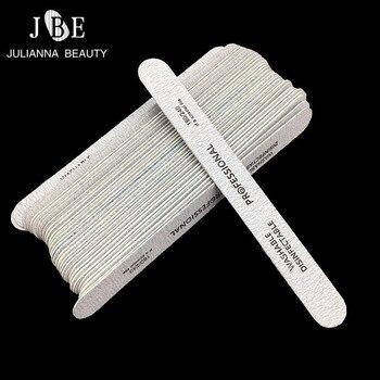 10 шт./лот, деревянные двухсторонние пилочки для ногтей, одноразовые 180/240 шлифовальные инструменты для маникюра, пилочки для гель-лака