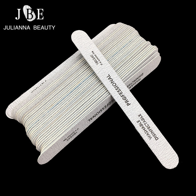 10pcs/lot Grey Double Side Wooden Nail Files Disposable 180/240 Dispoable Sanding Manicure Tools For Nail Gel Polish Files