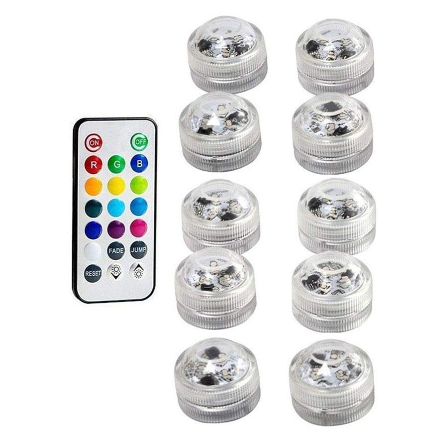 IP68 Waterdichte Batterij Operated Multi Kleur Dompelpompen LED Onderwater Licht voor Aquarium Vijver Zwembad Wedding Party