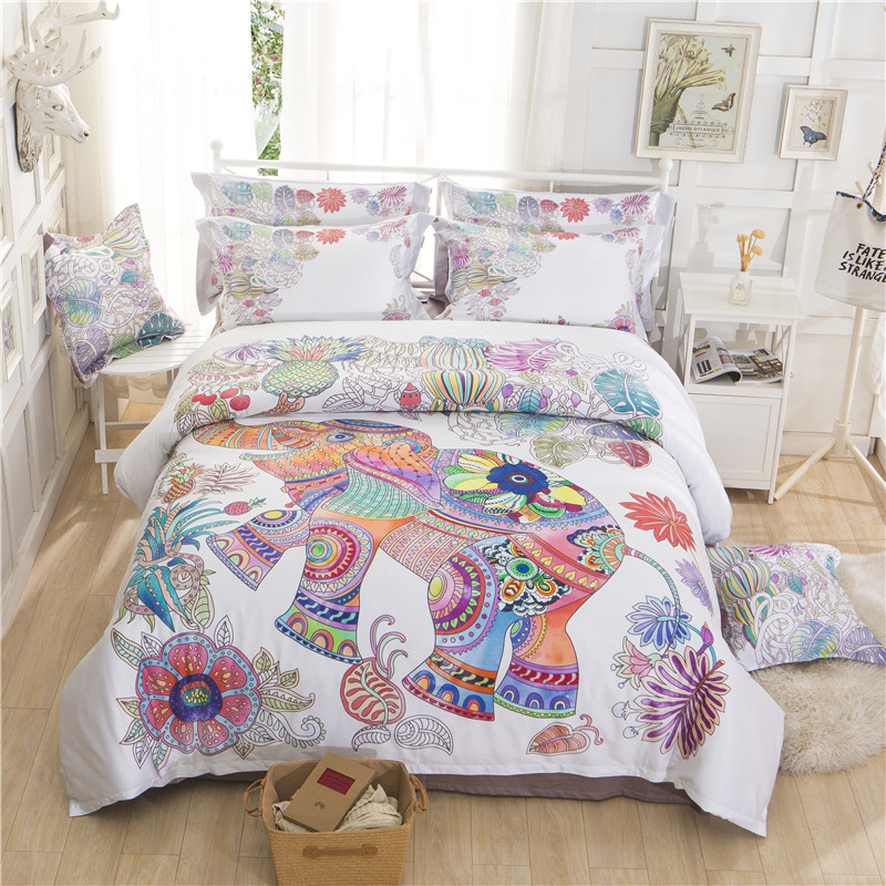 Egyptian cotton Bedding Set Boho style Bedcover Sets ...