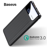 Baseus 10000mAh Power Bank LCD Diaplay External Battery Quick Charge 3.0 Portable Charger Powerbank For iPhone Samsung Xiaomi