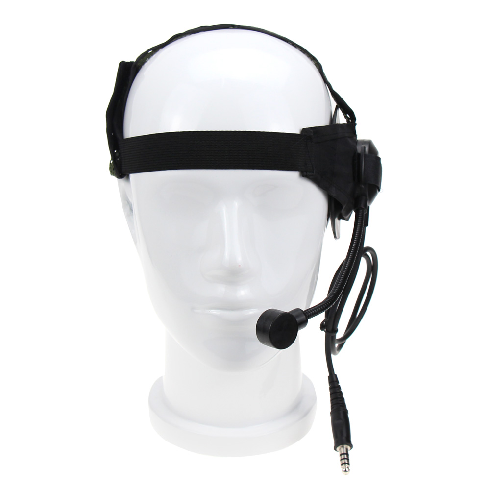 2 Pin PTT Tactical Bowman Elite II Headset With U94 Style Mic For Midland Walkie Talkie G6 G7 GXT550 GXT650 LXT80 LXT112 LXT435