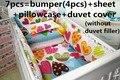 Discount! 6/7pcs New Baby Crib Bedding Girl Printed Baby Bedding Set For Kids ,120*60/120*70cm