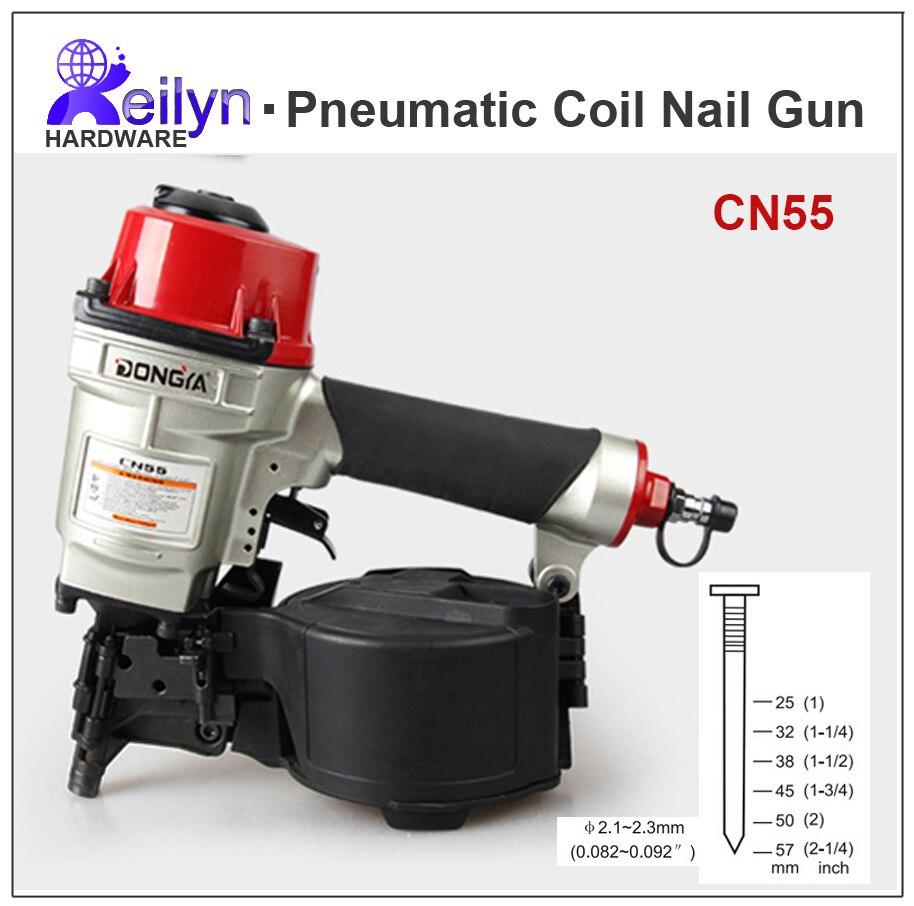 CN70 pistola de clavos neumática clavadora bobina de aire clavadora ...