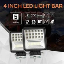324W 6000K LED Work Light Bar Flood Spot Beam Offroad 4WD SUV Driving Fog Lamp Excavator Dozer Road Roller Car Accessories