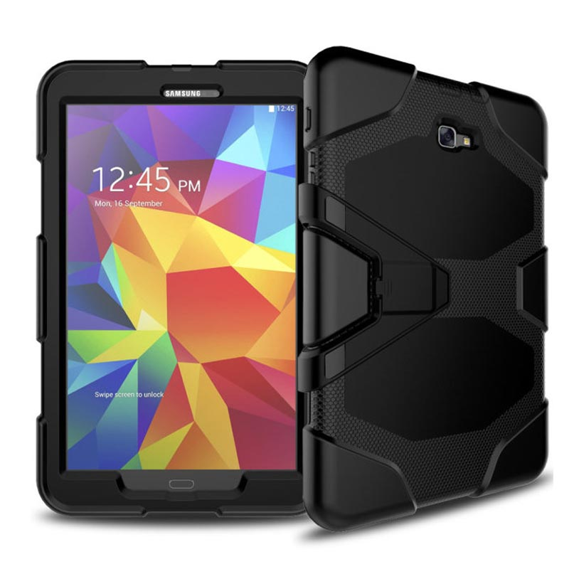 Case For Samsung Galaxy Tab A A6 10.1 2016 T580 T585 SM-T580 T580N Case Cover Tablet Shockproof Heavy Duty With Stand Hang Funda heavy duty silicone hard case cover protector stand tablet for samsung galaxy tab a a6 10 1 2016 t585 t580 sm t580 stylus