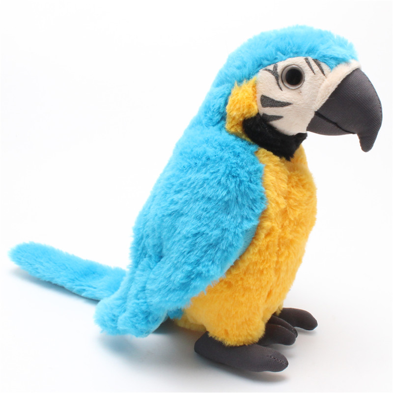 1 Piece Colorful Stuffed Animal Plush Rio Macaw Parrots Plush Toy Parrots Doll 25cm