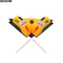 SHAHE правый угол 90 градусов вертикальный и горизонтальный Лазер ЛИНИЯ проекции квадратный лазерный уровень измерительный инструмент лазерный уровень