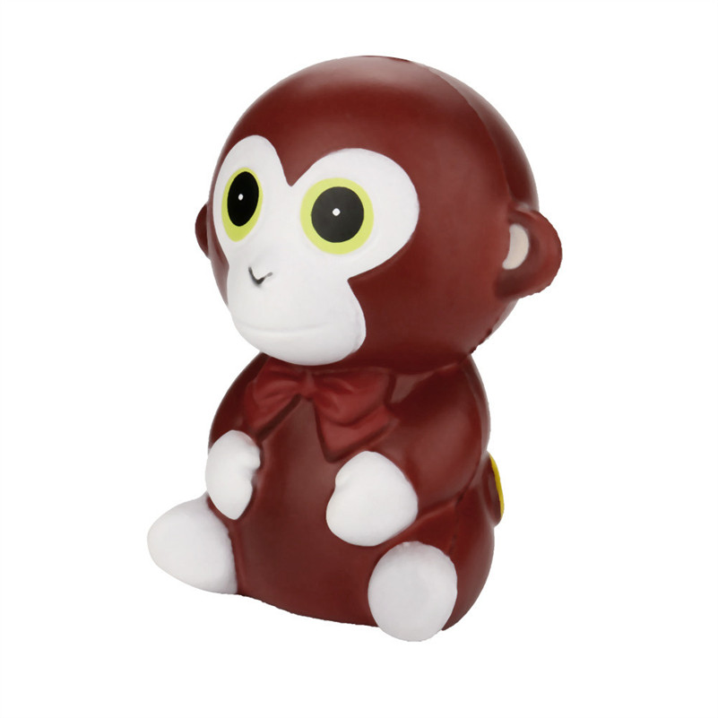 Lovely Cartoon Squeeze Monkey Cream Bread Scented Slow Rising Toys Phone Charm Gifts  Antistress Squish Toys For Kid Child A1