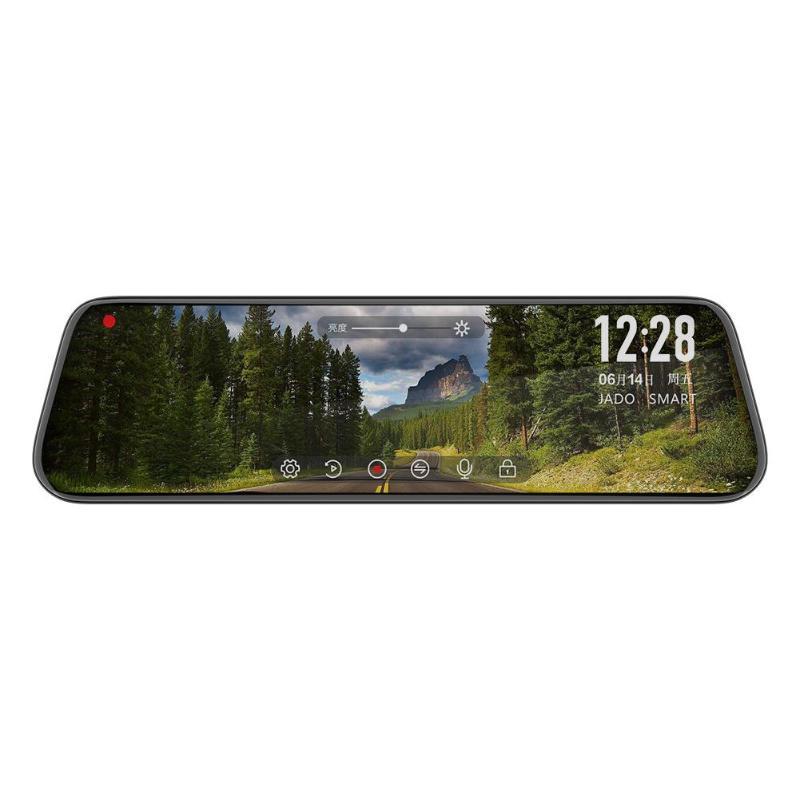 JADO Car DVR Camera Rearview-Mirror Dash-Cam Drive-Recorder Touch-Screen Starlight ADAS