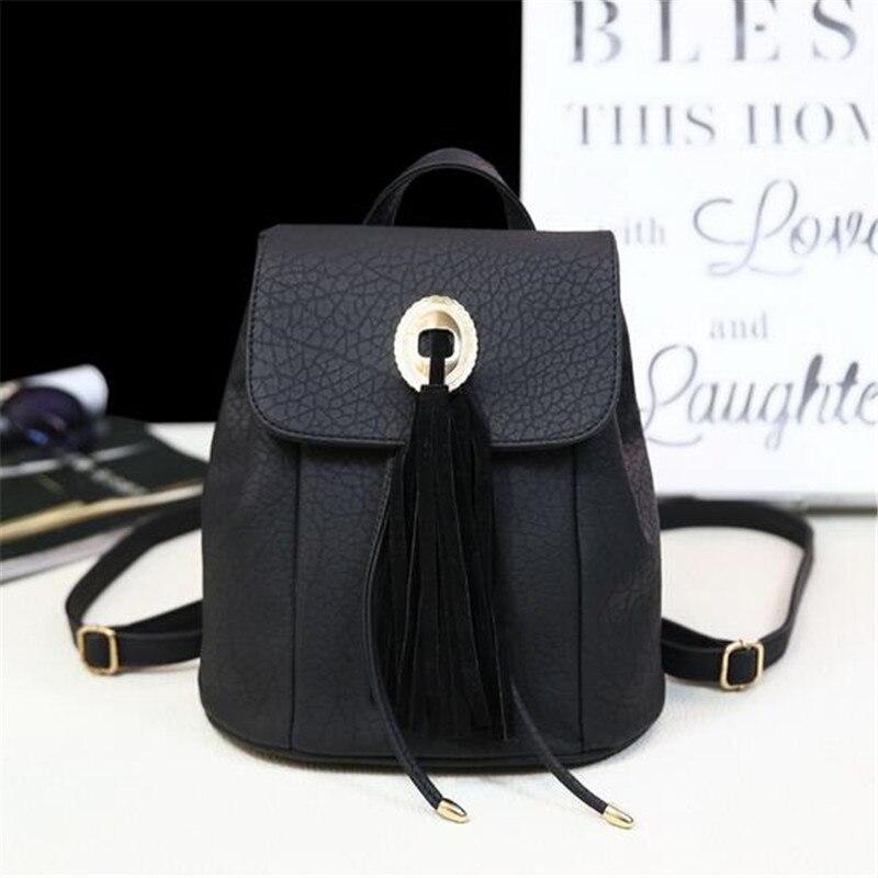 2016 new High Quality genuine PU backpack fashion women s travel bags School bag free shipping
