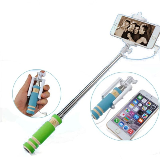 Best Deal 2015 Travel Handheld Fold Mini Self-Pole Portrait Monopod Stick Extendable Pau de Selfie Tripod Universal