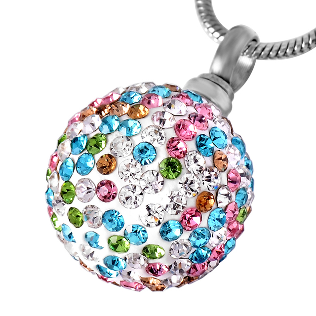 Cremation urn ashes multiple colors crystal ball ash jewelry pendant cremation urn ashes multiple colors crystal ball ash jewelry pendant necklace urn memorial keepsake free shipping aloadofball Choice Image