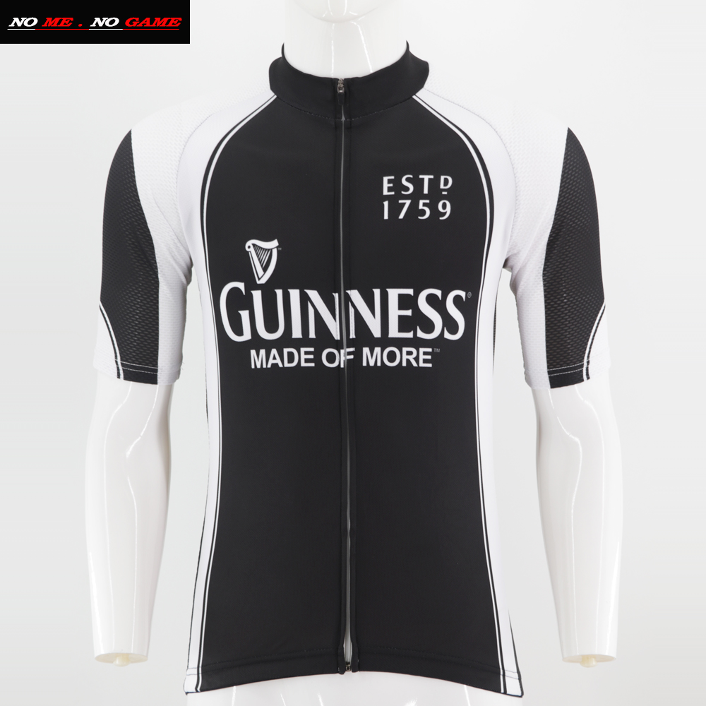 Guinness Beer Team Cycling Jersey Retro Road Pro Clothing MTB Short Sleeve