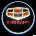 Двери автомобиля логотип свет двери автомобиля предоставлено света led лазерный лампа фильм проекционный экран для Geely EMGRAND EC7 EC7-RV EC8 X7