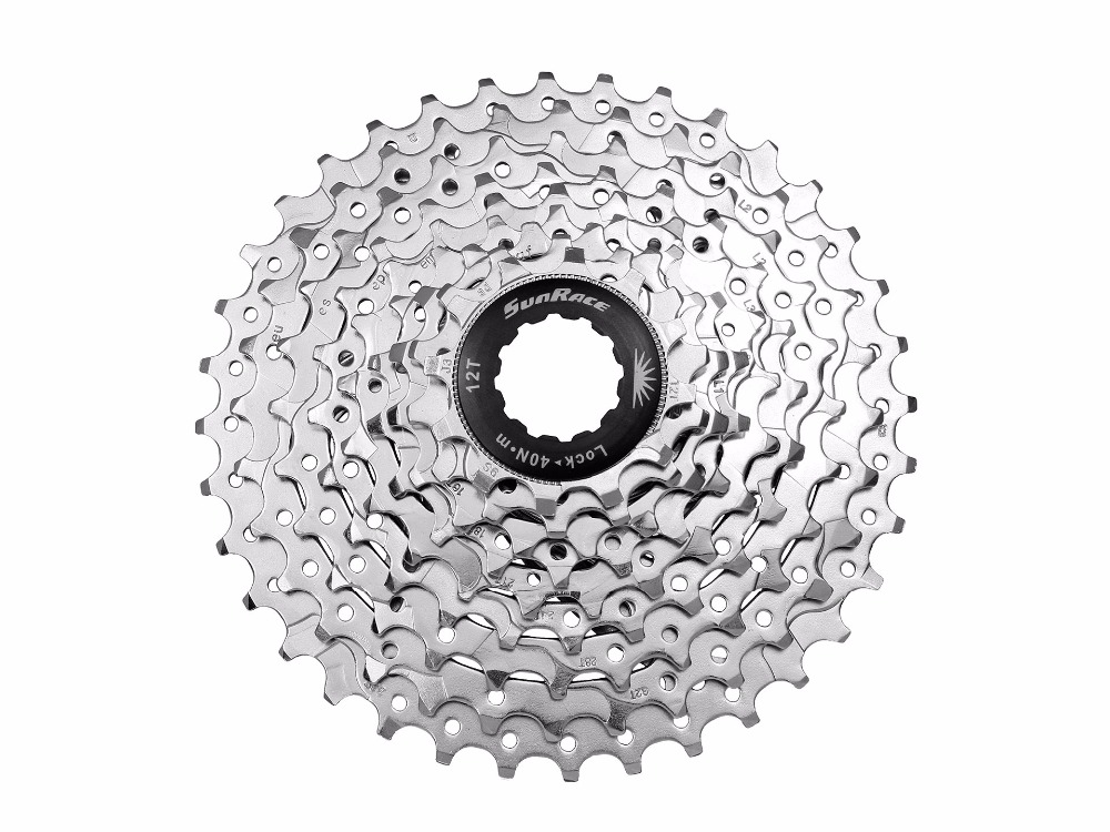 SunRace CSM98  9A 9-Speed 11-36T bike Cassette bicycle freewheel dynavox csm 112 silver