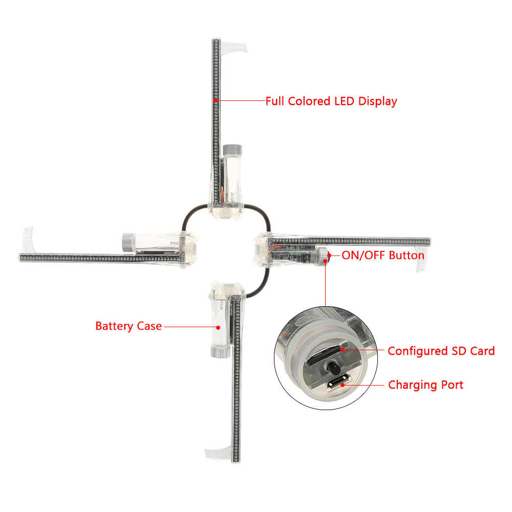 Lixada 2500cd M2 Sepeda Pintar Berbicara Roda Lampu Monitor RGB Display Rechargeable Sepeda Roda Hub 256 Pcs 416 Pcs LED cahaya