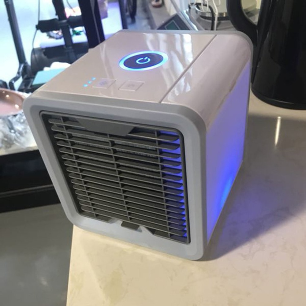 Portable Mini Air Conditioner Multifunction Cooling Fan with LED Lights Air Humidifier Purifier Air Cooler Summer Home